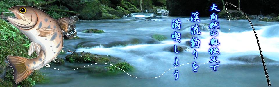 奥秩父の大自然で渓流釣りを楽しまれてください。